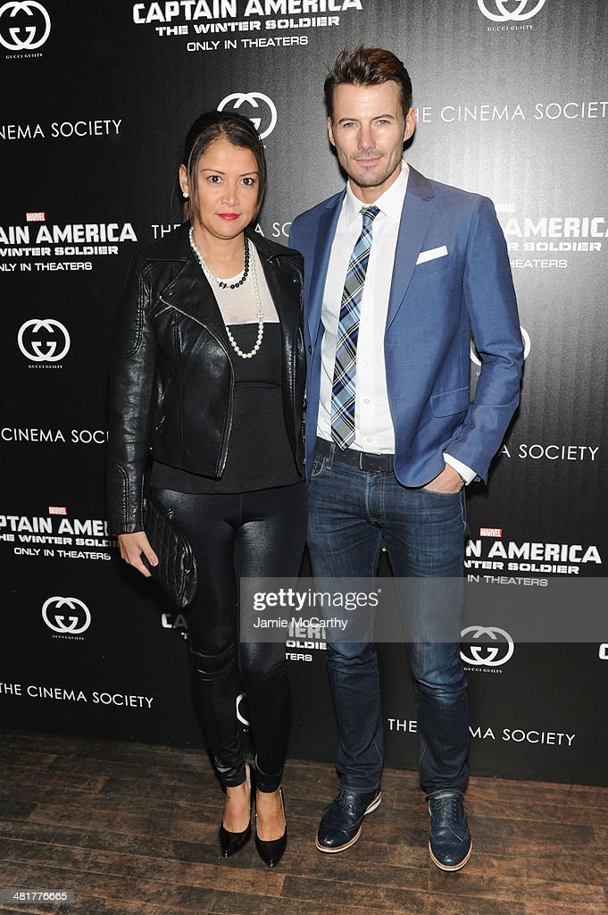 Keytt Lundqvist and Alex Lundqvist attend The Cinema Society & Gucci Guilty screening of Marvel's 'Captain America: The Winter Soldier' at Tribeca Grand Hotel on March 31, 2014 in New York City.