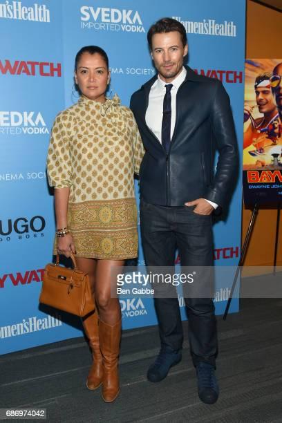 Keytt Lundqvist and Alex Lundqvist attend The Cinema Society Screening of 'Baywatch' at Landmark Sunshine Cinema on May 22 2017 in New York City