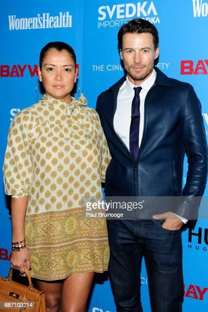 Keytt Lundqvist and Alex Lundqvist attend The Cinema Society with Hugo by Hugo Boss Women's Health SVEDKA host a screening of 'Baywatch' at Landmark...