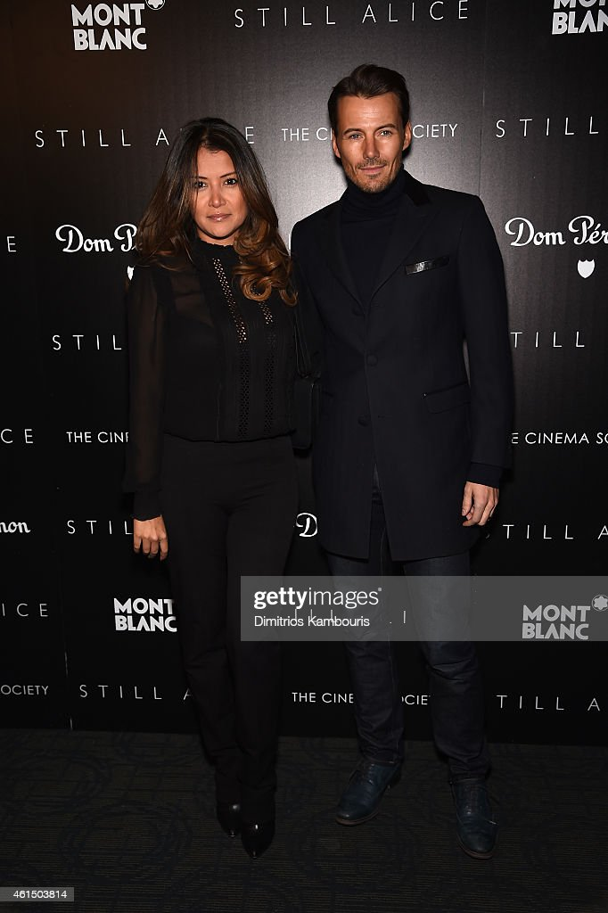 Keytt Lundqvist and Alex Lundqvist attend The Cinema Society with Montblanc and Dom Perignon screening of Sony Pictures Classics' 'Still Alice' at Landmark's Sunshine Cinema on January 13, 2015 in New York City.