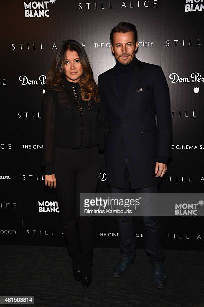 Keytt Lundqvist and Alex Lundqvist attend The Cinema Society with Montblanc and Dom Perignon screening of Sony Pictures Classics' 'Still Alice' at...