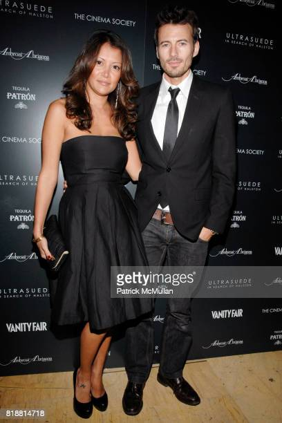 Keytt Lundqvist and Alex Lundqvist attend THE CINEMA SOCIETY with AMBROSI ABRIANNA VANITY FAIR host the after party for 'ULTRASUEDE IN SEARCH OF...