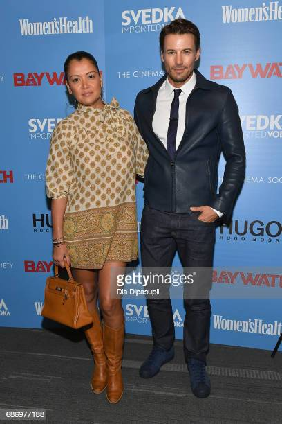 Keytt Lundqvist and Alex Lundqvist attend The Cinema Society's Screening Of 'Baywatch' at Landmark Sunshine Cinema on May 22 2017 in New York City