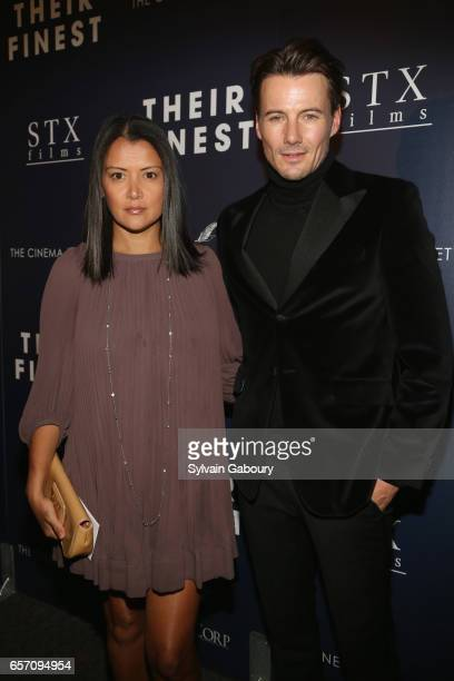 Keytt Lundqvist and Alex Lundqvist attend the premiere of 'Their Finest' hosted by STXfilms and EuropaCorp with The Cinema Society on March 23 2017...