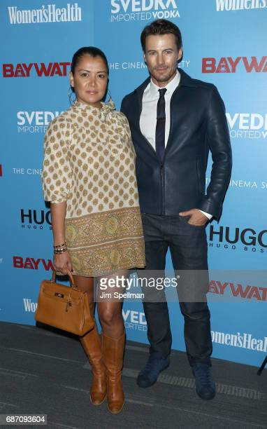 Keytt Lundqvist and Alex Lundqvist attend the screening of 'Baywatch' hosted by The Cinema Society at Landmark Sunshine Cinema on May 22 2017 in New...