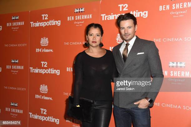 Keytt Lundqvist and Alex Lundqvist attend TriStar Pictures The Cinema Society Host a Screening of 'T2 Trainspotting' at Landmark Sunshine Cinema on...
