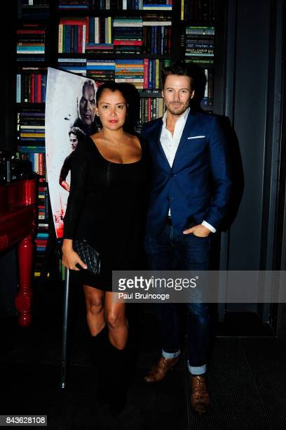 Keytt Lundqvist and Alex Lundqvist attends The Cinema Society Saved Wines host the after party for CBS Films' 'American Assassin' at iPic Theater...