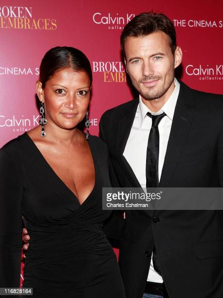Keytt Lundqvist and model Alex Lundqvist attend The Cinema Society Calvin Klein Collection Host A Screening Of 'Broken Embraces' at the Crosby Street...