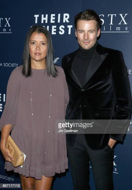 Keytt Lundqvist and model Alex Lundqvist attend the premiere of 'Their Finest' hosted by STXfilms and EuropaCorp with The Cinema Society at SVA...