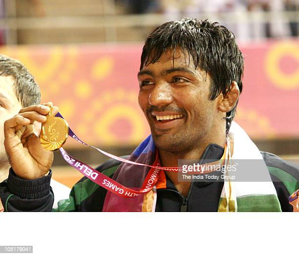 Kg freestyle wrestler from India Yogeshwar Dutt won gold medal at the Commonwealth Games in the New Delhi on October 9 2010