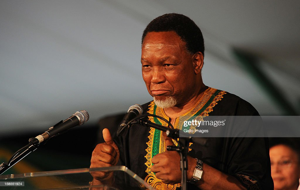 Kgalema Motlanthe gives his last speech as deputy president of the ANC on Day 3 of the ANC Conference which saw Jacob Zuma re-elected as ANC President on December 17, 2012, in Bloemfontein, South Africa. Cyril Ramaphosa was elected Deputy President, Gwede Mantashe Secretary General and Jesse Duarte as Deputy Secretary General.