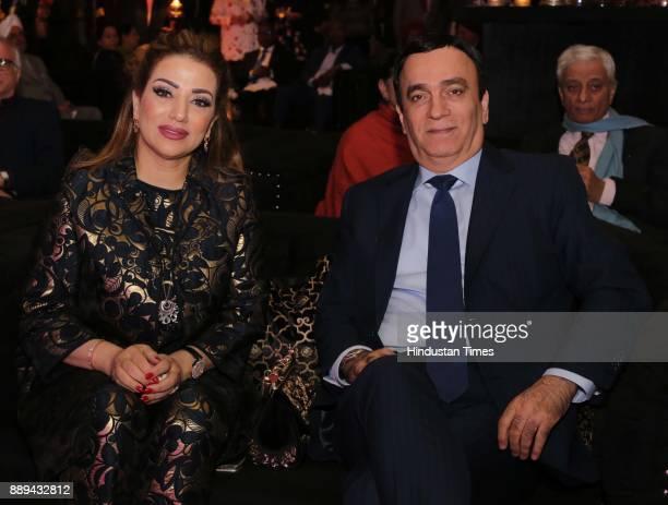 Khadija and Ahmed Albanna ambassador of UAE to India during a Gala evening showcasing fusion of Indian International Culture at Nandiya Garden Hotel...