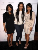 Khadijah Haqq Lauren London and Malika Haqq attend the launch for 'Unbreakable' on April 4 2011 in Hollywood California