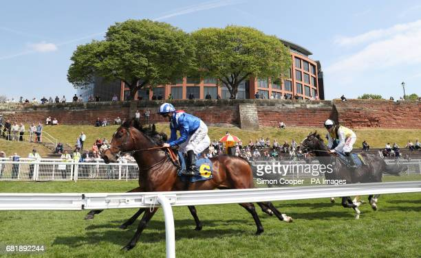 Khairaat ridden by Jim Crowley on his way to victory during the Gateley PLC Changing The Legal Landscape Handicap during day two of the Chester May...