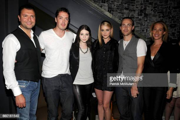 Khajak Keledjian Marcus Wainwright Michelle Trachtenberg Jessica Stam David Neville and Sari Sloane attend RAG BONE At INTERMIX FALL 2009 at Ace...
