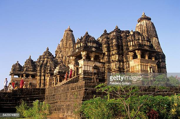 Khajuraho has the largest group of medieval Hindu and Jain temples in India famous for their erotic sculpture View of Chitragupta and Devi Jagadambi...