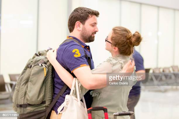 TORONTO ON JUNE Khaled Almilaji hugs his wife Jehan Mouhsen after landing at Pearson Airport in Toronto In January Syrian doctor Khaled Almilaji's...