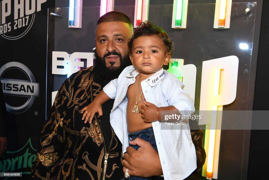 DJ Khaled and Asahd Khaled attend the BET Hip Hop Awards 2017 at The Fillmore Miami Beach at the Jackie Gleason Theater on October 6, 2017 in Miami Beach, Florida.