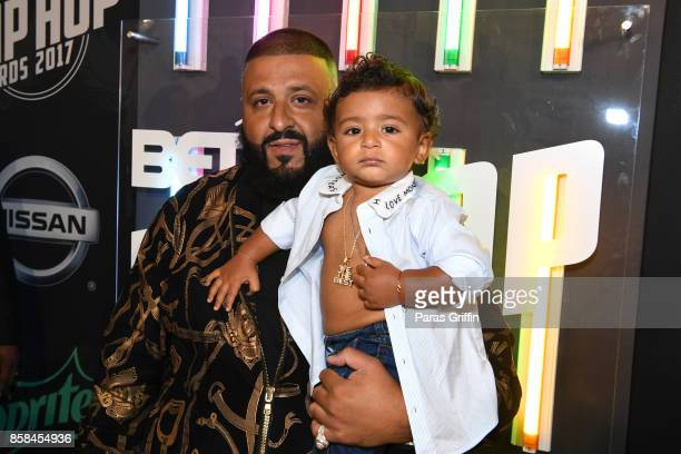 Khaled and Asahd Khaled attend the BET Hip Hop Awards 2017 at The Fillmore Miami Beach at the Jackie Gleason Theater on October 6 2017 in Miami Beach...