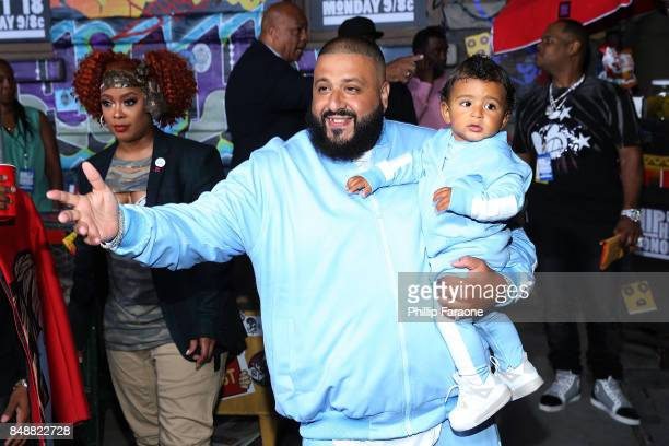 Khaled and Asahd Khaled attend VH1's Hip Hop Honors The 90's Game Changers at Paramount Studios on September 17 2017 in Hollywood California
