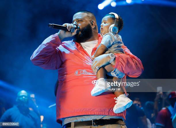 Khaled and Asahd Khaled perform during the 2017 Hot 97 Summer Jam at MetLife Stadium on June 11 2017 in East Rutherford New Jersey