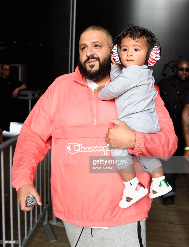 DJ Khaled and Asahd Tuck Khaled perform on stage during Day Two of 2017 Billboard Hot 100 Festival at Northwell Health at Jones Beach Theater on August 20, 2017 in Wantagh City.