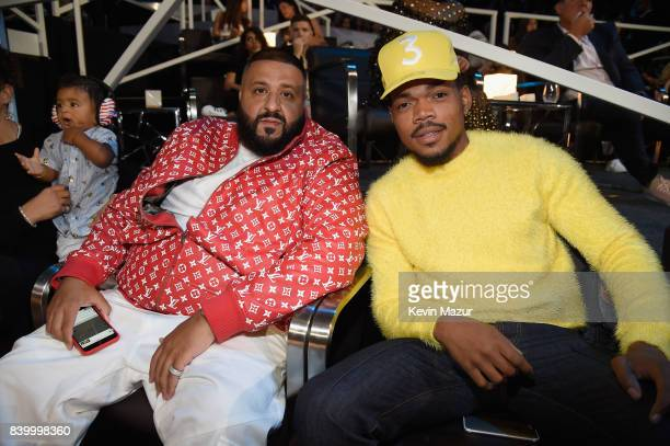 Khaled and Chance The Rapper attend the 2017 MTV Video Music Awards at The Forum on August 27 2017 in Inglewood California