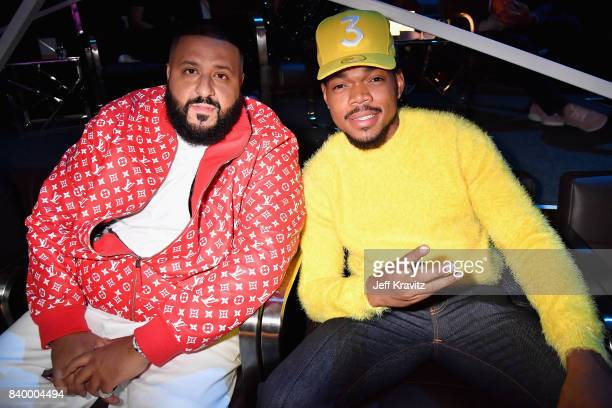Khaled and Chance The Rapper pose together during the 2017 MTV Video Music Awards at The Forum on August 27 2017 in Inglewood California
