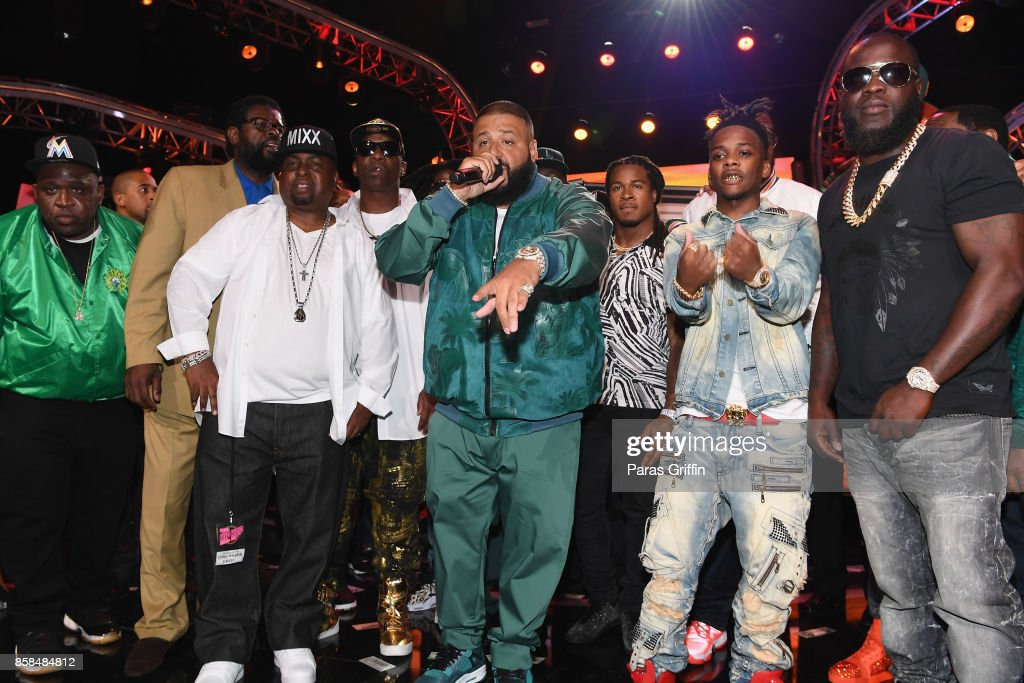 DJ Khaled and guests onstage at the BET Hip Hop Awards 2017 at The Fillmore Miami Beach at the Jackie Gleason Theater on October 6, 2017 in Miami Beach, Florida.