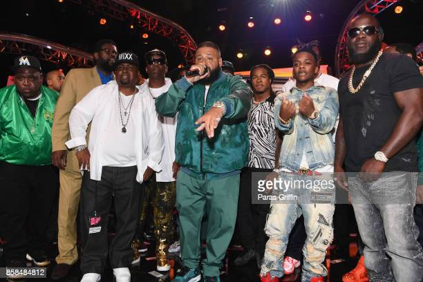Khaled and guests onstage at the BET Hip Hop Awards 2017 at The Fillmore Miami Beach at the Jackie Gleason Theater on October 6 2017 in Miami Beach...