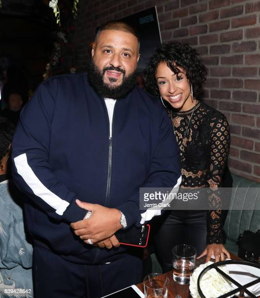Khaled and Liza Koshy attend DJ Khaled 'Grateful' Platinum Celebration on August 25 2017 in Los Angeles California