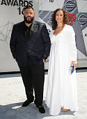 Khaled and Nicole Tuck attend the 2016 BET Awards at Microsoft Theater on June 26 2016 in Los Angeles California