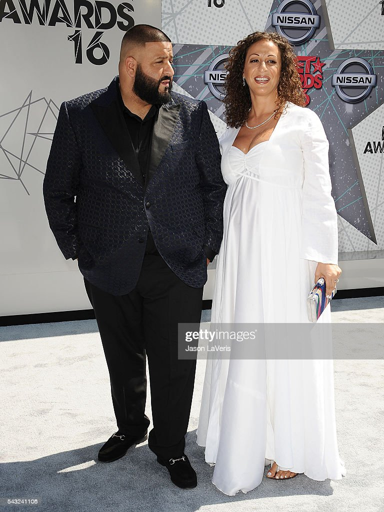 <a gi-track='captionPersonalityLinkClicked' href=/galleries/search?phrase=DJ+Khaled&family=editorial&specificpeople=577862 ng-click='$event.stopPropagation()'>DJ Khaled</a> and Nicole Tuck attend the 2016 BET Awards at Microsoft Theater on June 26, 2016 in Los Angeles, California.