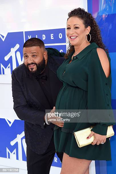 Khaled and Nicole Tuck attend the 2016 MTV Video Music Awards at Madison Square Garden on August 28 2016 in New York City