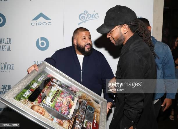Khaled and PartyNextDoor attend DJ Khaled 'Grateful' Platinum Celebration on August 25 2017 in Los Angeles California