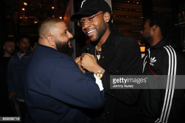 Khaled and PartyNextDoor attend DJ Khaled's Platinum Dinner at Catch on August 25 2017 in West Hollywood California