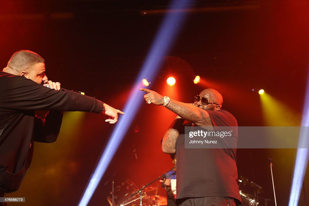 DJ Khaled and Rick Ross perform at Best Buy Theater on March 3, 2014, in New York City.