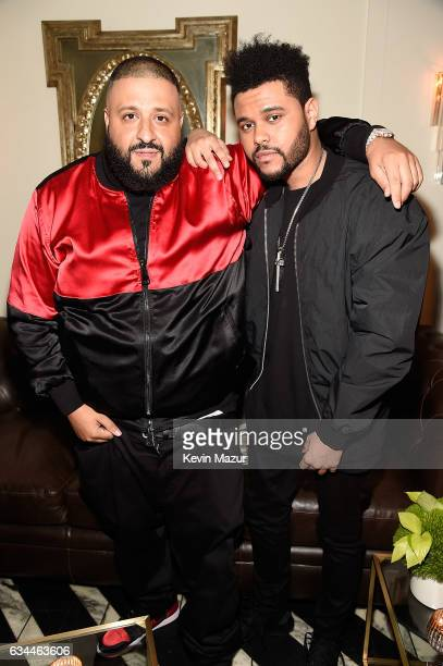 DJ Khaled and The Weeknd attend Citi Presents 2017 Billboard Power 100 Celebration at Cecconi's Restaurant on February 9 2017 in Los Angeles...