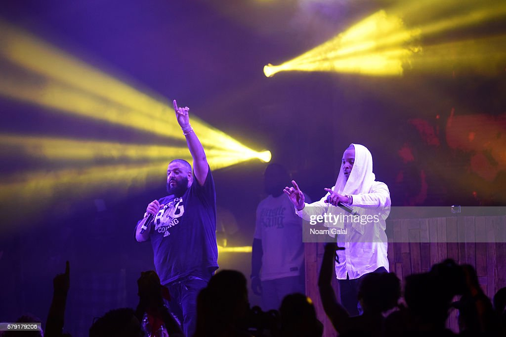 Khaled and TI perform onstage at the 2016 Panorama NYC Festival Day 1 at Randall's Island on July 22 2016 in New York City
