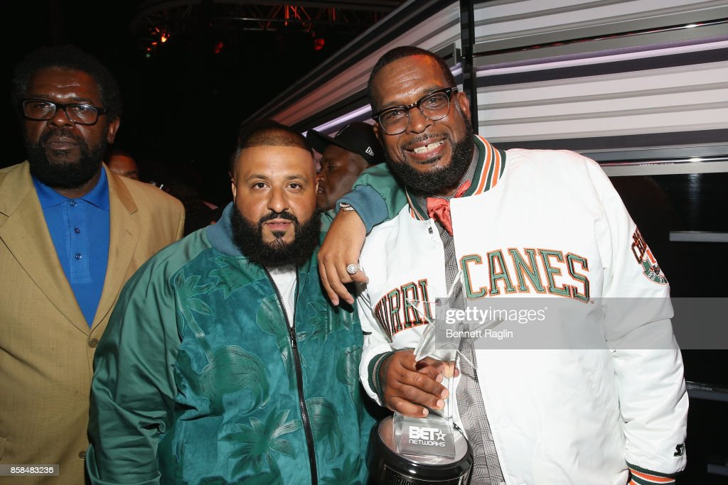DJ Khaled and Uncle Luke attend the BET Hip Hop Awards 2017 at The Fillmore Miami Beach at the Jackie Gleason Theater on October 6, 2017 in Miami Beach, Florida.