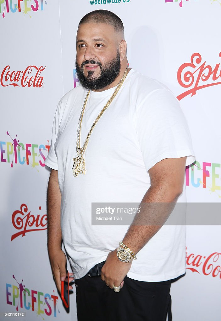 <a gi-track='captionPersonalityLinkClicked' href=/galleries/search?phrase=DJ+Khaled&family=editorial&specificpeople=577862 ng-click='$event.stopPropagation()'>DJ Khaled</a> arrives at the 2nd Annual Epic Fest held at Sony Pictures Studios on June 25, 2016 in Culver City, California.