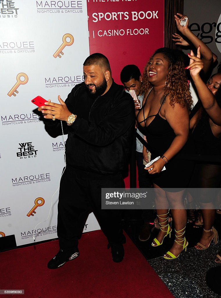 <a gi-track='captionPersonalityLinkClicked' href=/galleries/search?phrase=DJ+Khaled&family=editorial&specificpeople=577862 ng-click='$event.stopPropagation()'>DJ Khaled</a> arrives at the Marquee Nightclub at The Cosmopolitan of Las Vegas to host the launch of 'Unlock Your Mondays' industry night on May 31, 2016 in Las Vegas, Nevada.