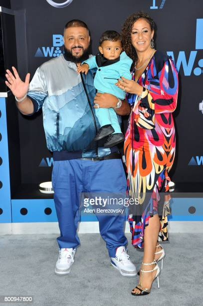 DJ Khaled Asahd Tuck Khaled and Nicole Tuck arrive at the 2017 BET Awards at Microsoft Theater on June 25 2017 in Los Angeles California