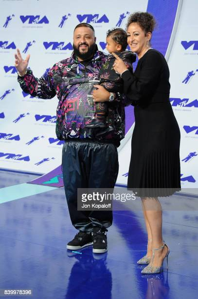 DJ Khaled Asahd Tuck Khaled and Nicole Tuck attend the 2017 MTV Video Music Awards at The Forum on August 27 2017 in Inglewood California