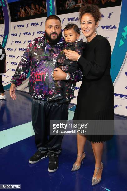 DJ Khaled Asahd Tuck Khaled and Nicole Tuck during the 2017 MTV Video Music Awards at The Forum on August 27 2017 in Inglewood California