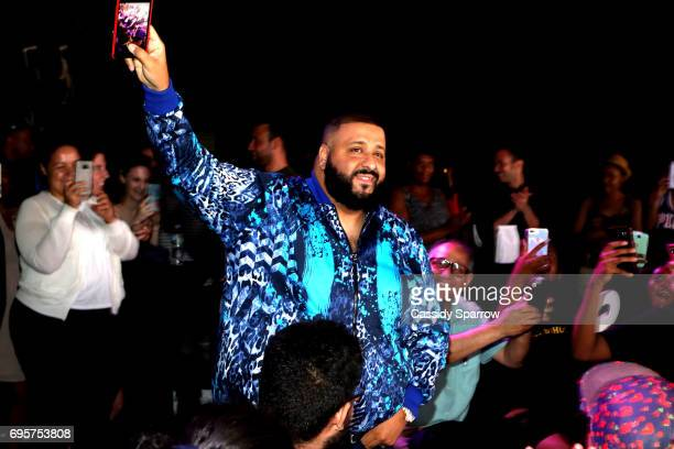 Khaled attends a Get Schooled event at MTV in the Viacom Building on June 13 2017 in New York City