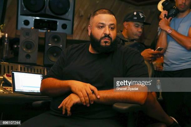 Khaled attends DJ Khaled 'Grateful' private listening event at Premier Studios on June 14 2017 in New York City