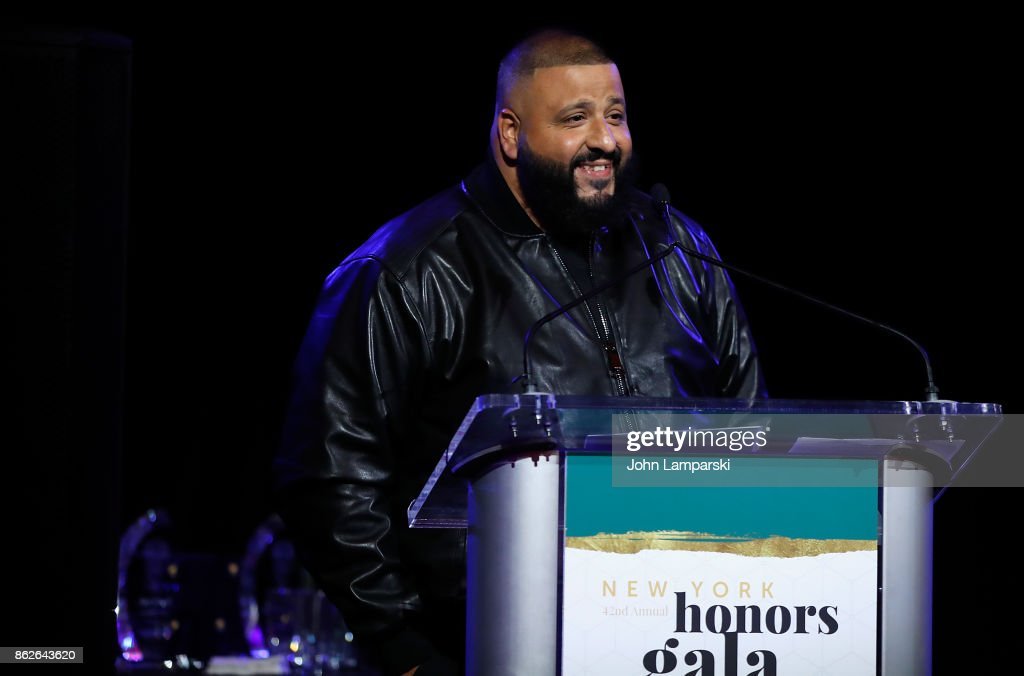 DJ Khaled attends T.J. Martell 42nd Annual New York Honors Gala at Guastavino's on October 17, 2017 in New York City.
