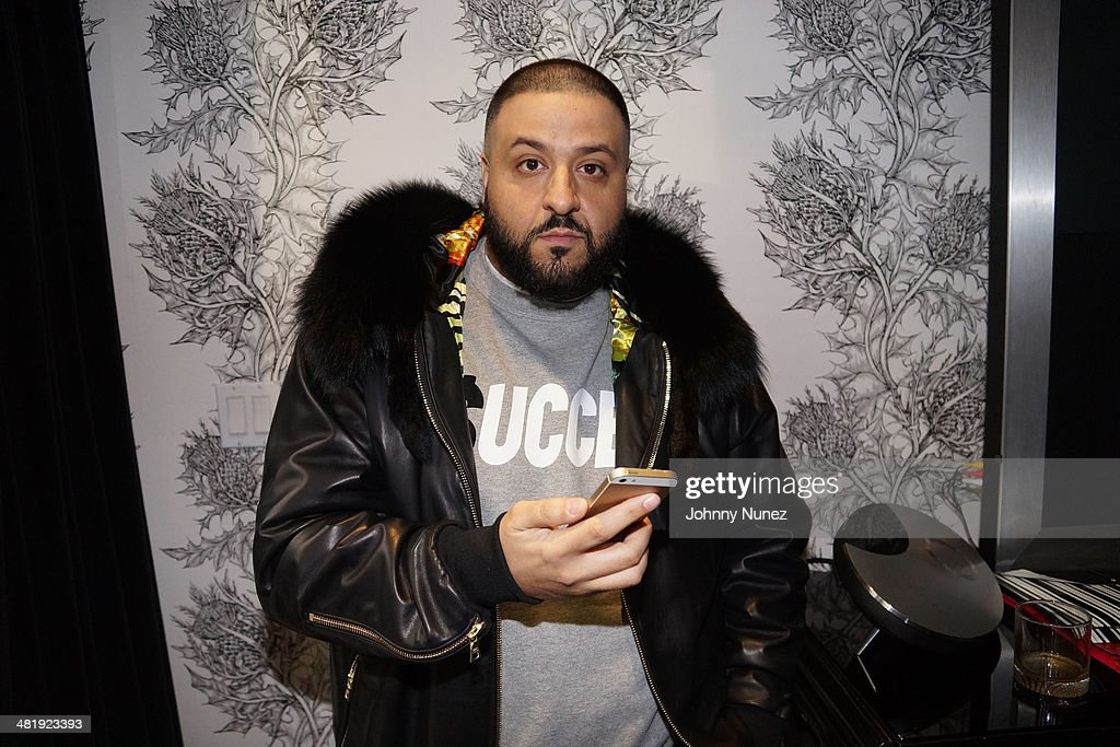 DJ Khaled attends Vado's 'My Bae' video shoot featuring Jeremih at The Griffin on April 1, 2014 in New York City.