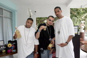 DJ Khaled Dre and Cool of Terror Squad during 2005 MTV VMA Style Villa Suites Day 2 at Sagamore Hotel in Miami Florida United States